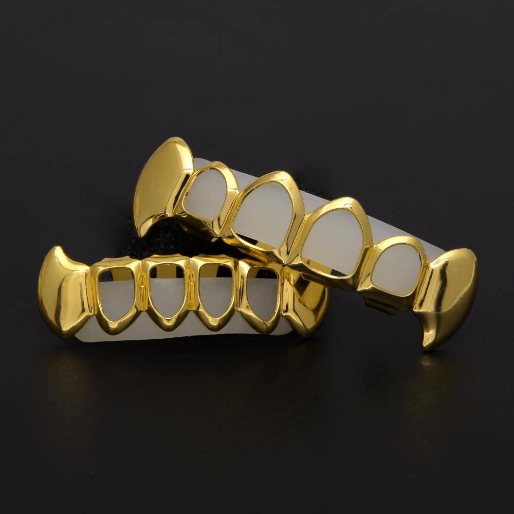 Hollow Grillz Hip Hop Jewellry For Teens Best Quality Gold Plated Hiphop Grillzs Street Style Jewelries 2017 Hot Sale