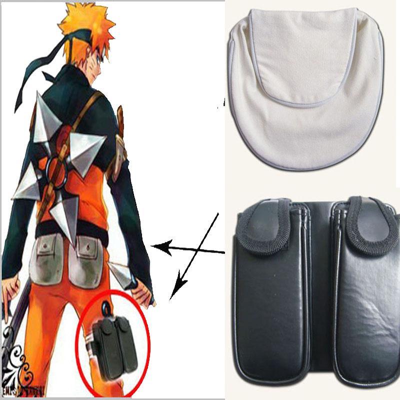 HOT Anime NARUTO Acessórios Naruto Hatake Kakashi Dedicado COS Saco Da Cintura Qualidade Halloween Chrismas Branco Preto