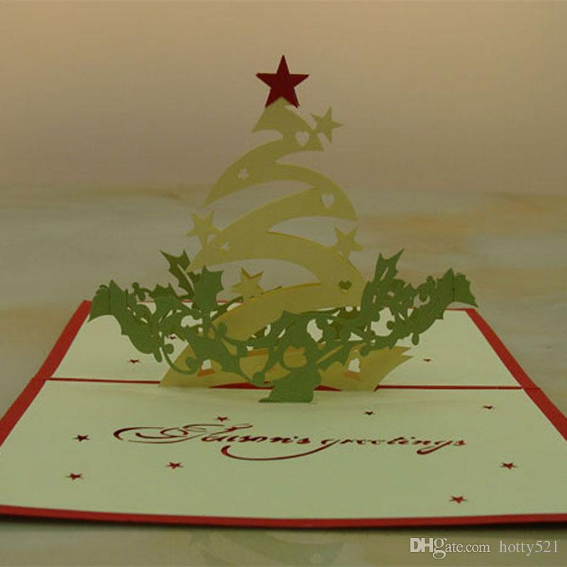 Christmas Star Handmade Kirigami Origami 3d Pop Up Greeting Cards ...