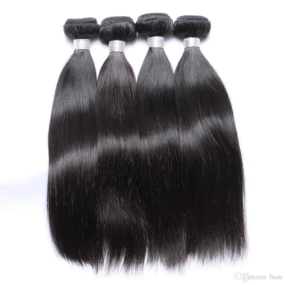 Toppkvalitet 7A Blandade 8-30Inches Brasilianska Virgin Human Weave Natural Color Silky Rak Hårväft Förlängningar Gratis frakt