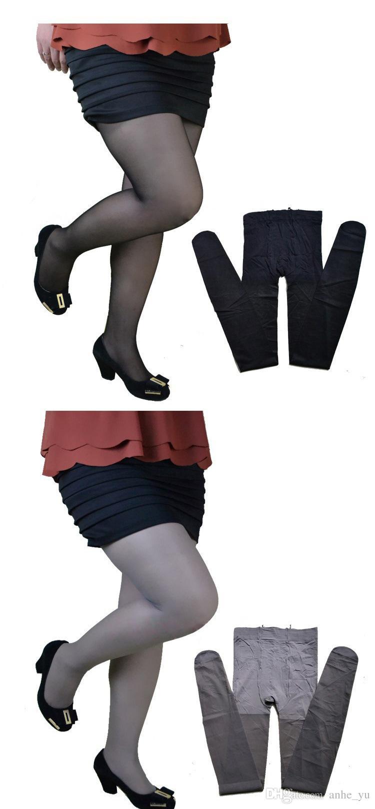 Femmes Transparent Bas Taille Haute Brillant Brillant Plus Grande Taille Bas Club Danse Cuisse Bas Collants Façonnage Pantyhose FX5