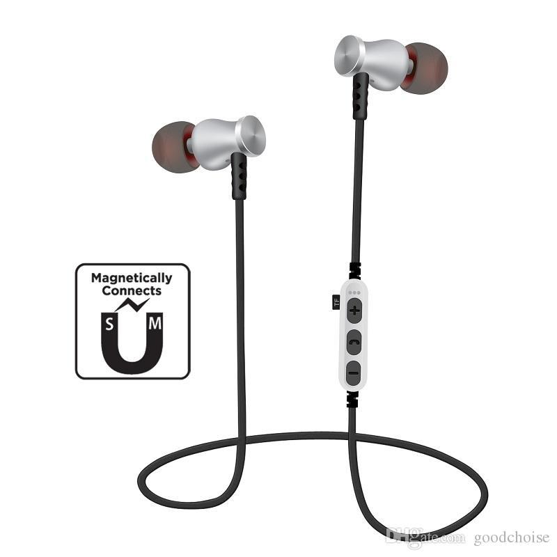 MS-T5 Magnetic Bluetooth Esporte fone de ouvido sem fio que executam Headset Com Mic MP3 Earbud Baixo Stereo BT 4.2 Para novo modelo de celular