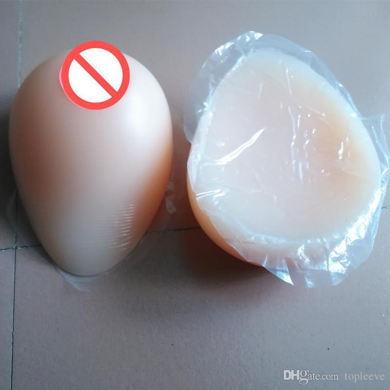 Festival Gift Adhesive Tear Drop Shape Silicone Breast Form Artificial Fake False Boobs Crossdresser Transexual User
