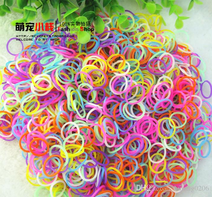 Fashion dog Pet Accessory Grooming Puppy Teddy Yorkshire Hair Rubber Bands Wholesale Mixed Colors