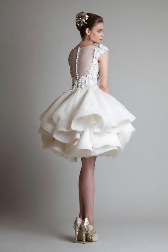 Krikor Boda Jabotian De 2016 Nuevos Vestidos Cortos Baratos Compre QBoerWdCx
