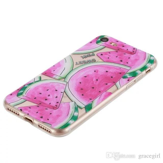 Fruit Watermelon Lemon TPU Soft Case For Iphone 6 6S Plus 7 I7 SE 5 5S Huawei P9 Lite Transparent Mandala Flower Cat Girl Phone Cover Skin