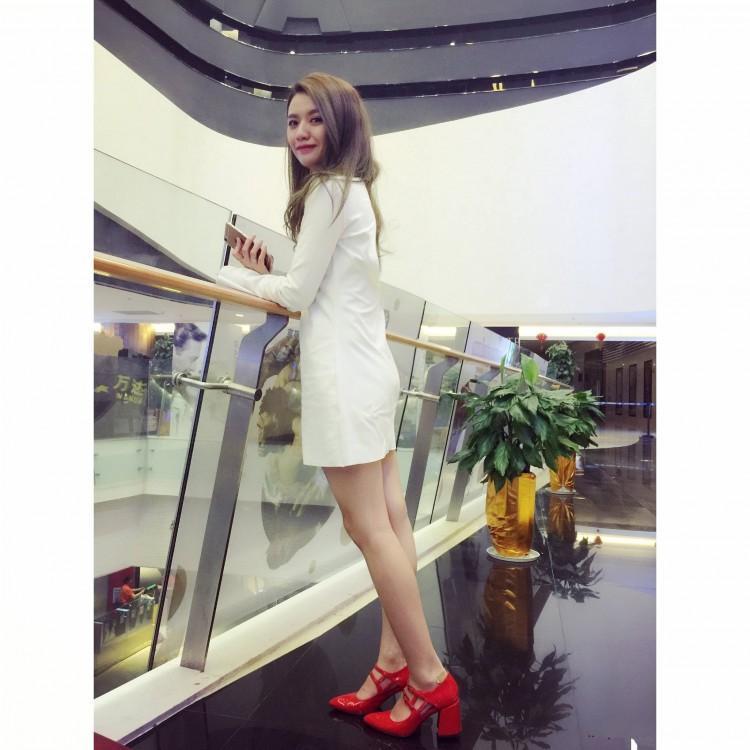 fashionvi~fashion designer women b104 34 genuine leather strappy pointy thick heels shoe white mary jane patent leather black red inspired
