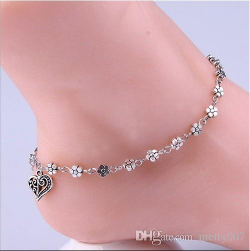 womens for jewelry galis beads and category anklets women cord shell silver il gray anklet product