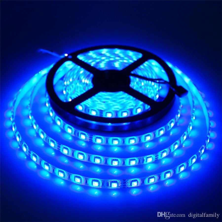 5M 5050SMD RGB LED Bande de lumière Flexible Étanche LED Bande DC12V Flexible LED Lumière IP65 multi couleur avec 44 touche IR Télécommande