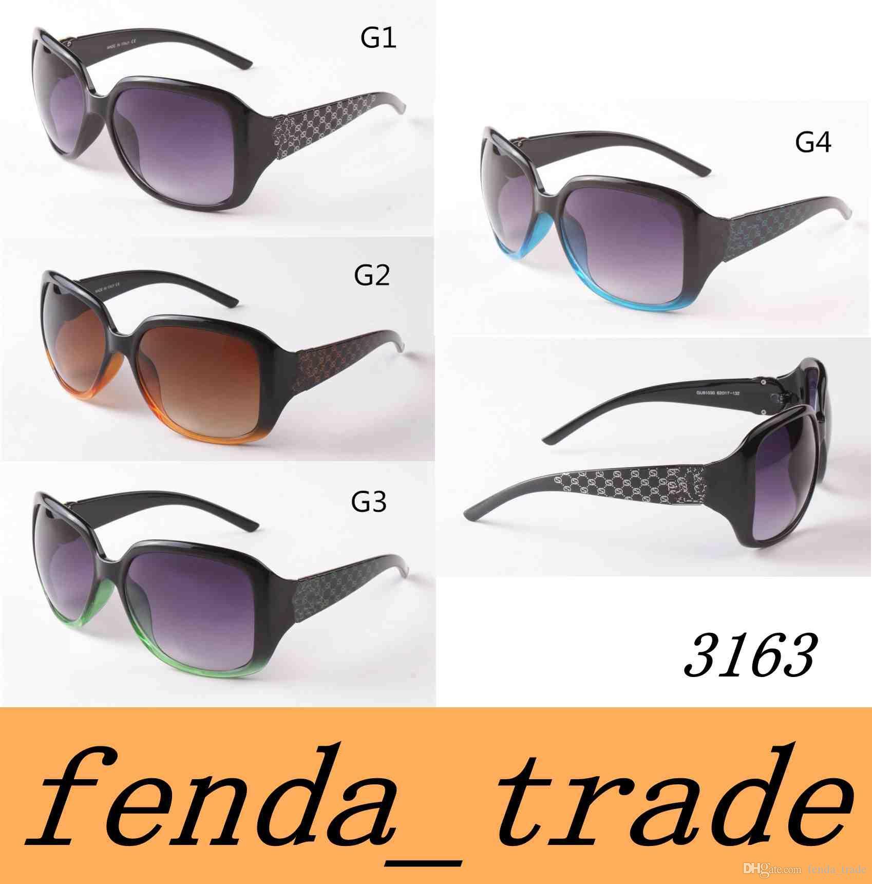 84d37aa91935a 2018 New Fashion Sunglasses 3163 Sunglasses Fashion Big Frame Sunglasses  Ladies Trend Glasses UV400 High Quality MOQ 10 Fastrack Sunglasses Smith  Sunglasses ...