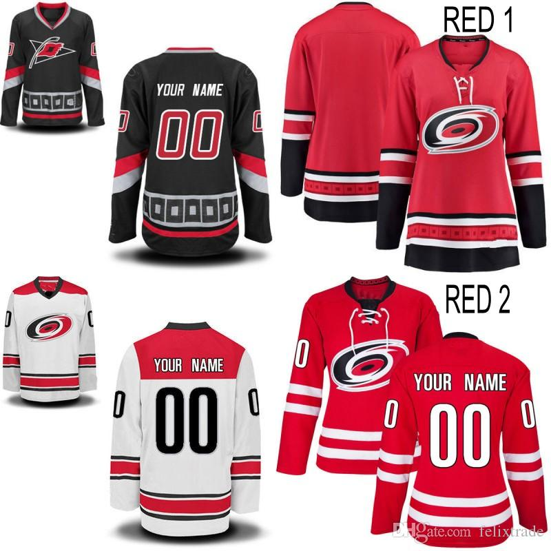 2019 Womens Carolina Hurricanes Custom Jersey 19 Josh Jooris 16 Marcus  Kruger 59 Janne Kuokkanen 28 Elias Lindholm Cheap Stiched Hockey Jerseys  From ... 7c785ee55