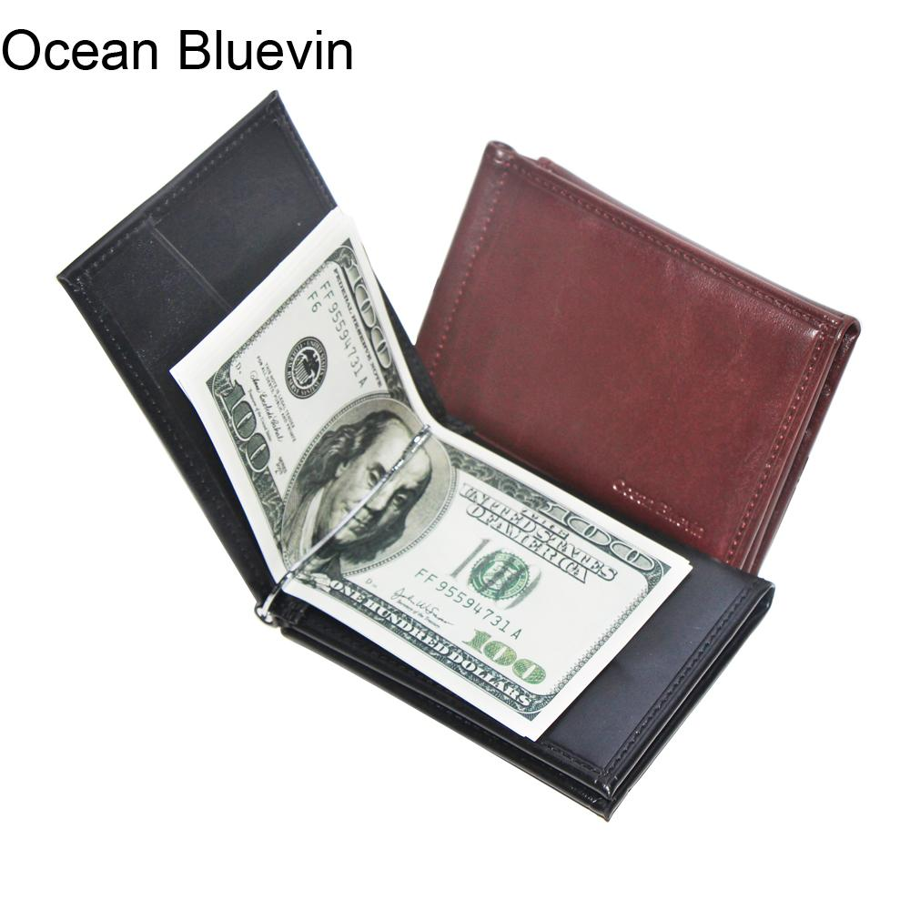 061d33521433 Ocean Bluevin New Portable Design Mens Money Clips Wallet Black Brown  Quality Soft 3 Folds ID Credit Card Bit Money Clip Cateira Wallets Pink  Wallet Owl ...