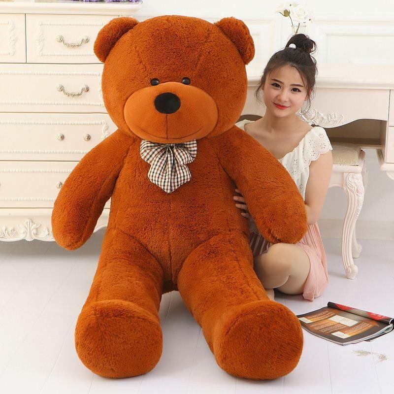 3eaf9a5c825 2019 Big Sale Giant Teddy Bear 160cm 180cm 200cm 220cm Life Size Large Huge Big  Plush Stuffed Toy Dolls Girl Birthday Valentine Gift From Swimwear3