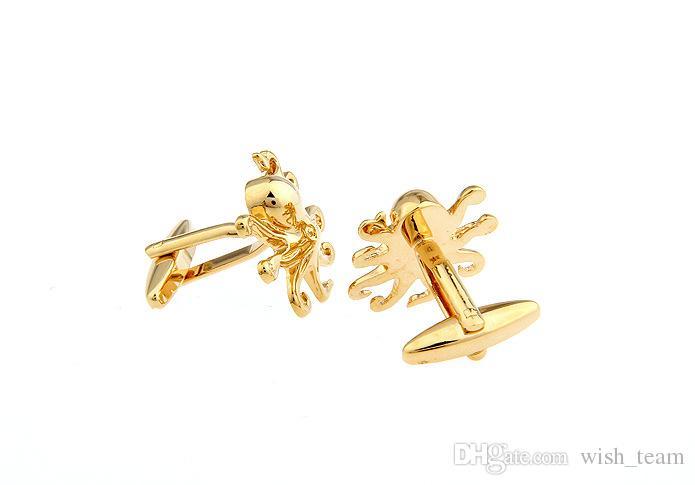 Unique designer octopus Cufflinks for men shirt Wedding Cufflinks French Cuff Links Fashion Jewelry Best Gift Top Grade