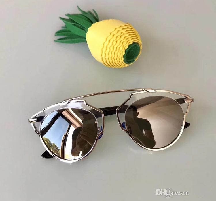 Acheter Top Qualité Cat Eye Lunettes De Soleil Pour Les Femmes Argent Miroir  Lens Alliage Cadre Lunettes De Soleil Polarozed Avec Original Packgae  Designer ... 71eec703c602