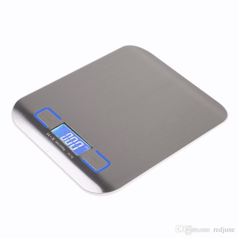 5000g/1g Digital Scale Kitchen Cooking Measure Tools Stainless Steel Electronic Weight LCD Electronic Bench Weight Scale