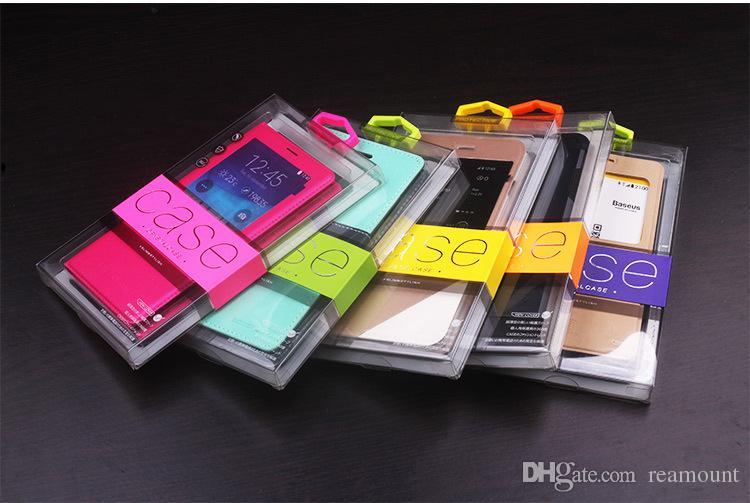 Couleurs Personnalité Conception PVC Emballage Vente Au Détail Boîte de Paquet pour iPhone 6 Plus Cas De Téléphone Portable Pack Cadeau Accessoires DHL