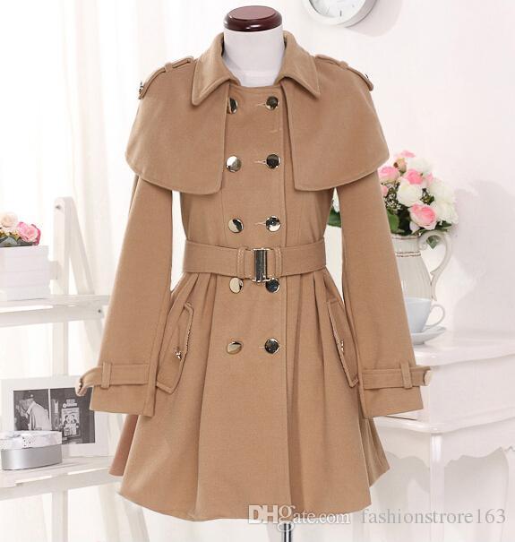 slim women's coats women's trench coats women's coats Women Outwear Cape-style woolen coat