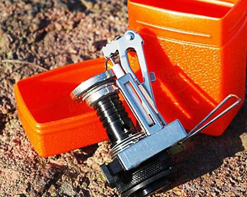 Bruciatori a gas all'aperto all'aperto di picnic pieghevole fuori porta la mini cassa della stufa dell'acciaio di campeggio trasporto libero