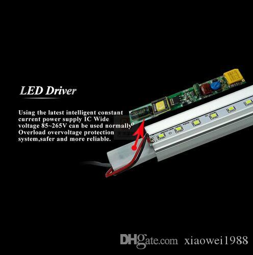 Estoque nos EUA 4ft 18 W 22 W 28 W 45 W T8 Levou Tubo de Luz 4500lm Conduziu a iluminação Tubo Fluorescente Lâmpada 1.2 m tubos de LED