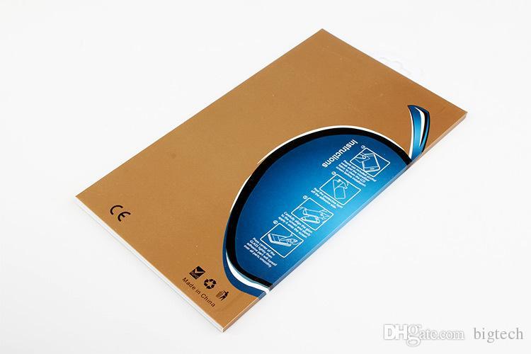 300 stücke großhandel universal bling hartpapier box 9 H gehärtetem glas displayschutzfolie verpackung für iPhone 7 7 plus film