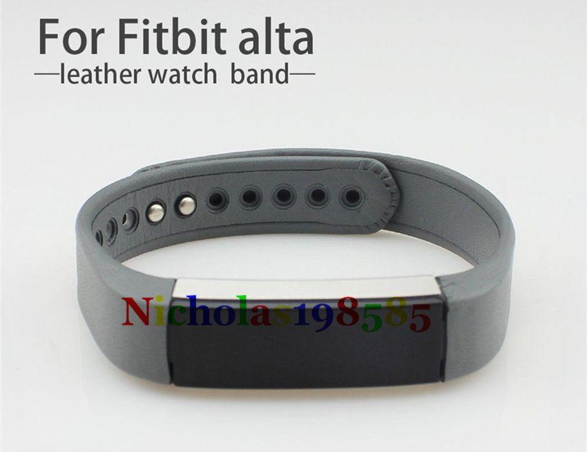 Best Fitbit Alta ALta HR Leather Straps Band Wristband Smart Bracelet Wrist Strap For Fitbit Alta Smart Watch No Tracker L/S Size