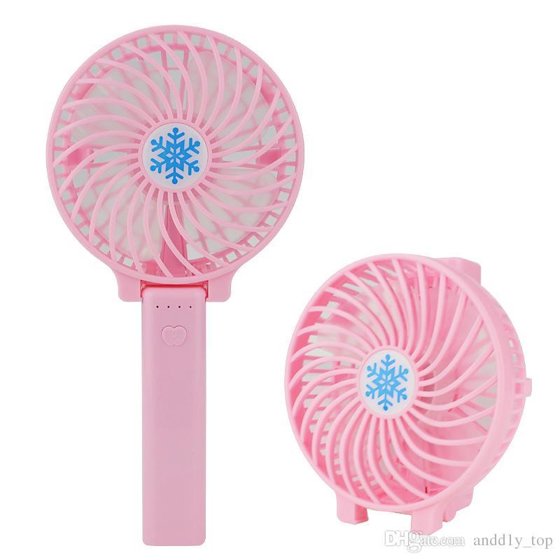 홈 오피스 선물 휴대용 전기 팬 눈송이 휴대용 충전 핸디의 USB 팬 접이식 핸들 미니