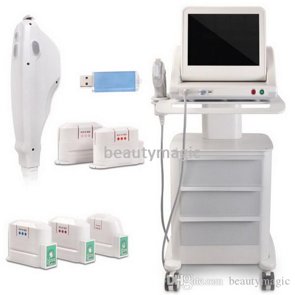 Effective Hifu High Intensity Focused Ultrasound Hifu Face Lift Wrinkle Removal Body Slimming Machine For Face And Body With 5 Cartridges