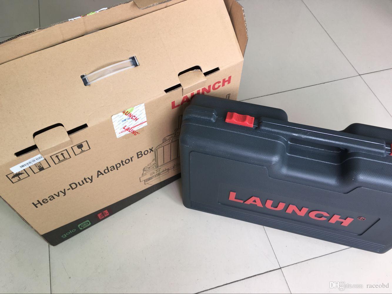 최신 LAUNCH X431 HD 헤비 듀티 트럭 진단 어댑터 작동 X431 V + X431 Pro3 패드 ii 무료 업데이트 온라인