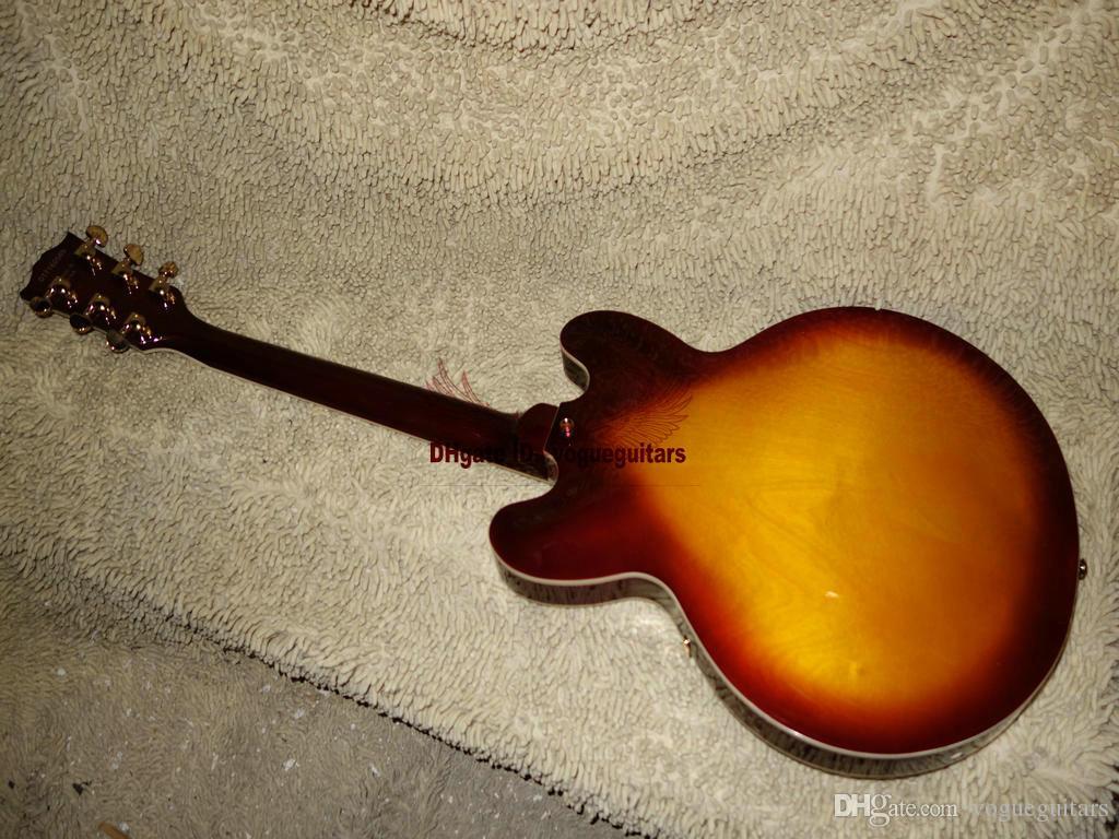 Personalizado Mel Onda 335 Guitarra Elétrica Clássica de Ouro Hardware Frete Grátis