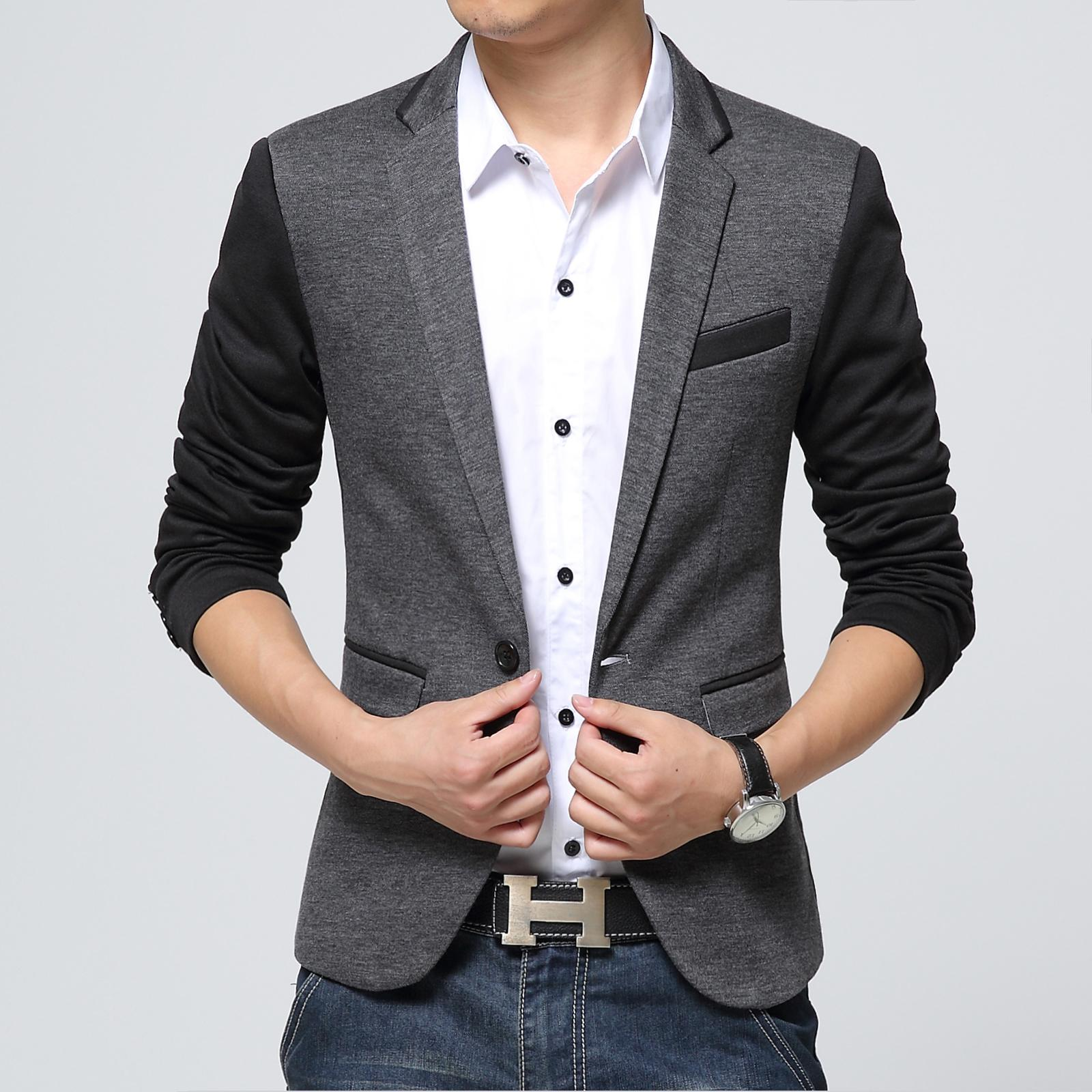 Online Cheap New Style Men Blazer 2016 Suit Men Brand Casual Jacket Latest Coat Designs Leather ...