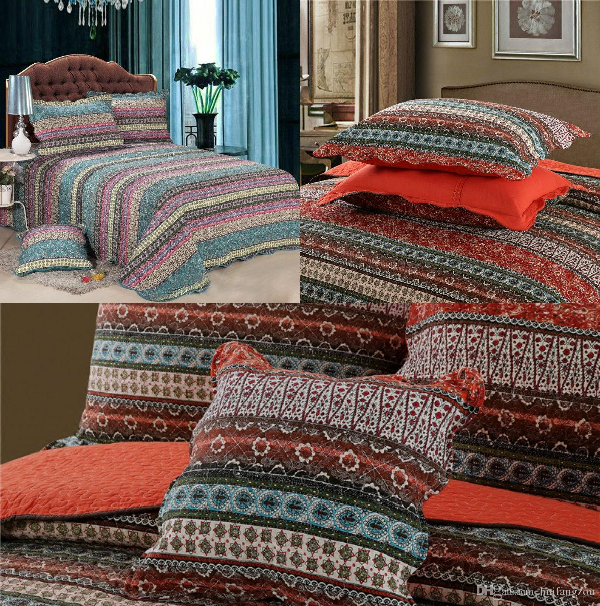 in stock cheap bohemia christmas bedding set quilt bed sheet two
