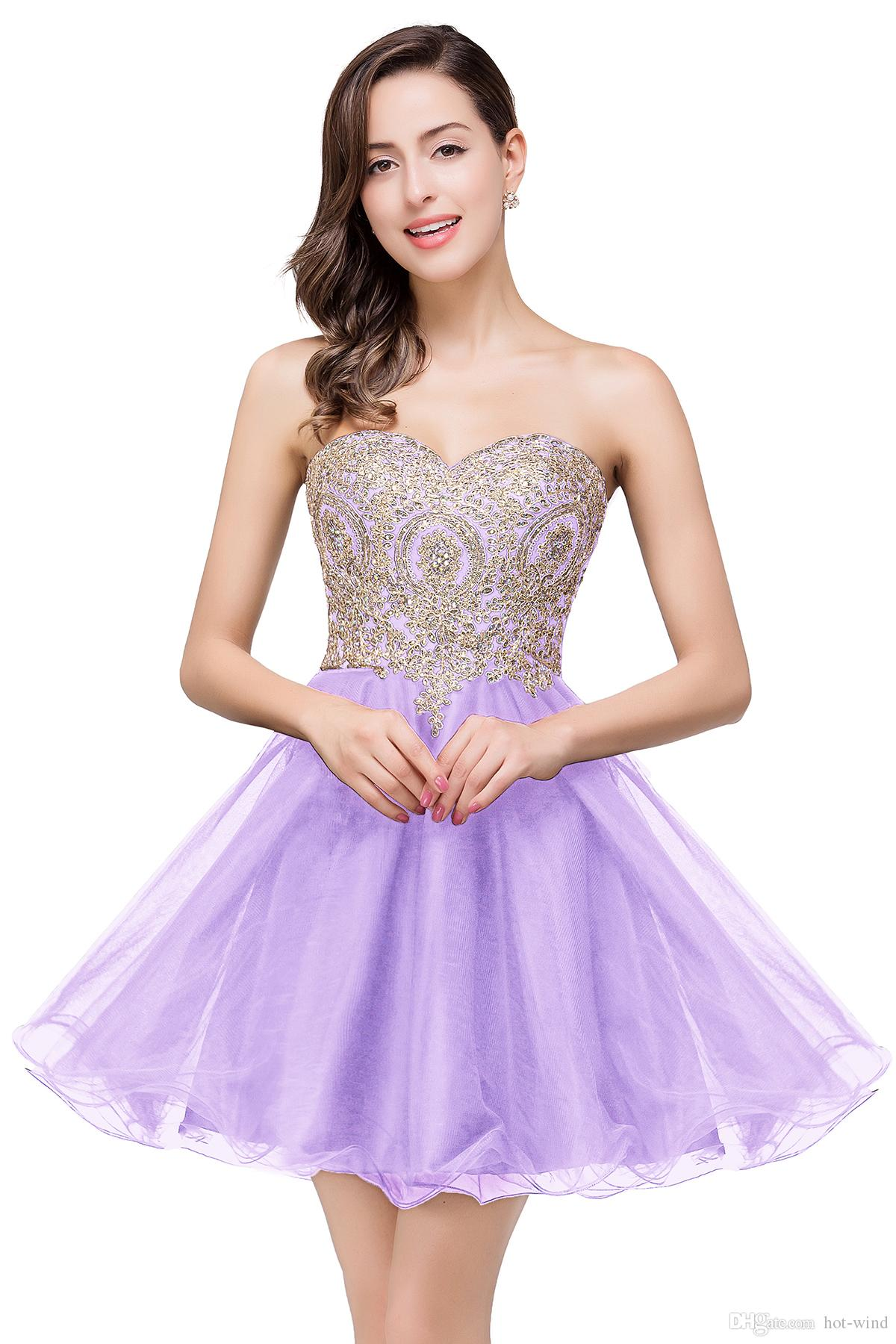 $39.9 New Cheap Mini Short Homecoming Dresses 2020 Little Black Lace Appliques Tulle Cocktail Burgundy Prom Party Gowns CPS411