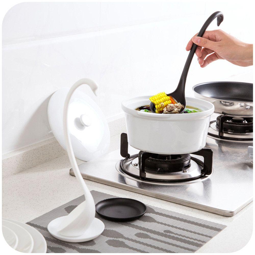 2017 wholesale elegance multi function long handel swan shape soup