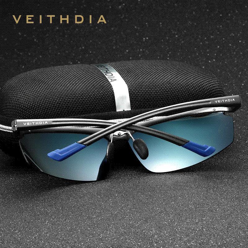 a8a00a18398 VEITHDIA Aluminum Magnesium Men s Sunglasses Polarized Sports Blue ...