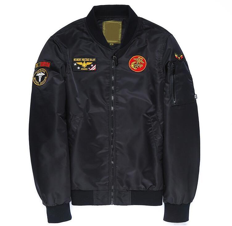 Freie Fracht MA-1 Air Force Fluganzug kanye west Thes Flügel des Adlers Hip Hop Baseballuniformjacke Flut Harajuku Baumwolle Jacke