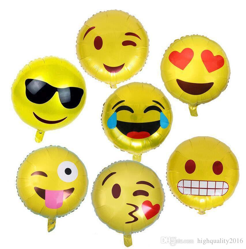 18'' Expression Balloons Emoji Foil Balloon Happy Birthday