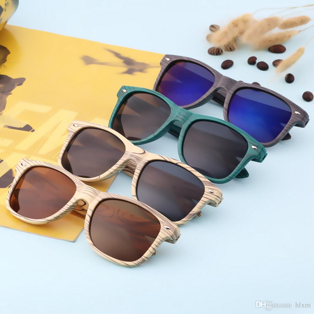 Großhandel Nachahmung Holzmaserung Rahmen Gläser Bambus Sonnenbrille ...