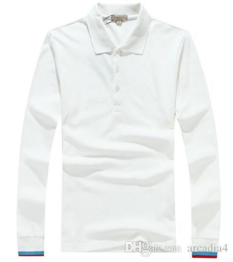 36b85cd849a0 London Brit Men Polo Shirt Mens Long Sleeve Solid Polo Shirts Camisa ...