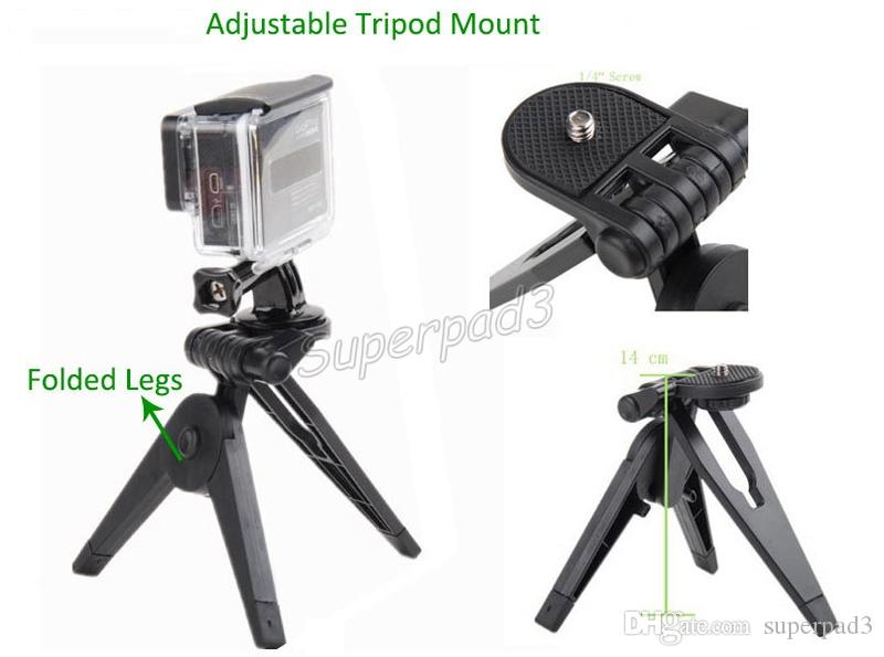 Camera Monopods Tripods Accessories 13 in 1 Mount Kit Set For GoPro Hero Sports Action Camera Set + Carry Case Free DHL Shipping