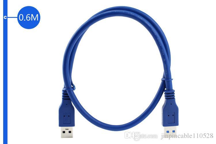 Nuevo USB 3.0 Un cable macho a macho 0.6 m 2 pies de alta velocidad USB 3.0 AM-AM
