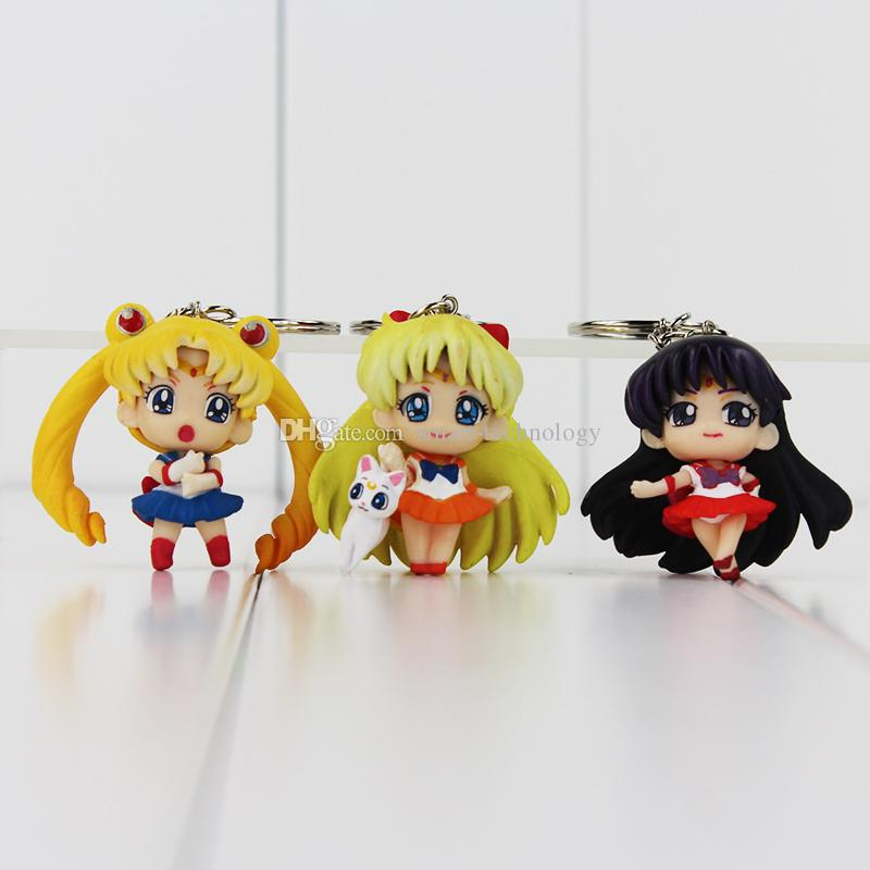 Anime Cartoon Sailor Moon porte-clés Tuxedo Masque porte-clés porte-clés action figure Figure jouet poupées PVC anniversaire cadeau De Noël