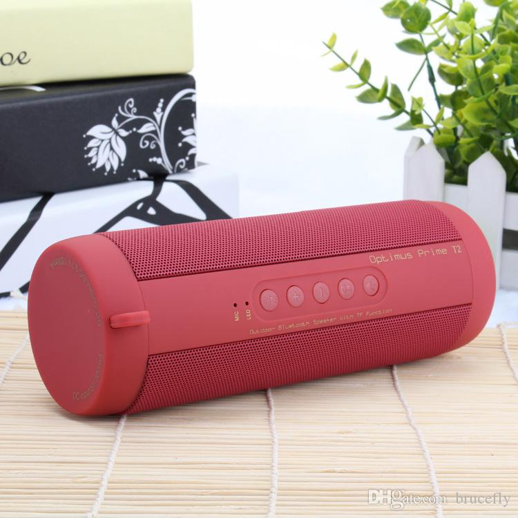 T2 Portable Wireless Bluetooth Speaker Stereo Hi-Fi Boxes Outdoor Waterproof Support SD TF card FM Radio Super Bass Bluetooth Speaker