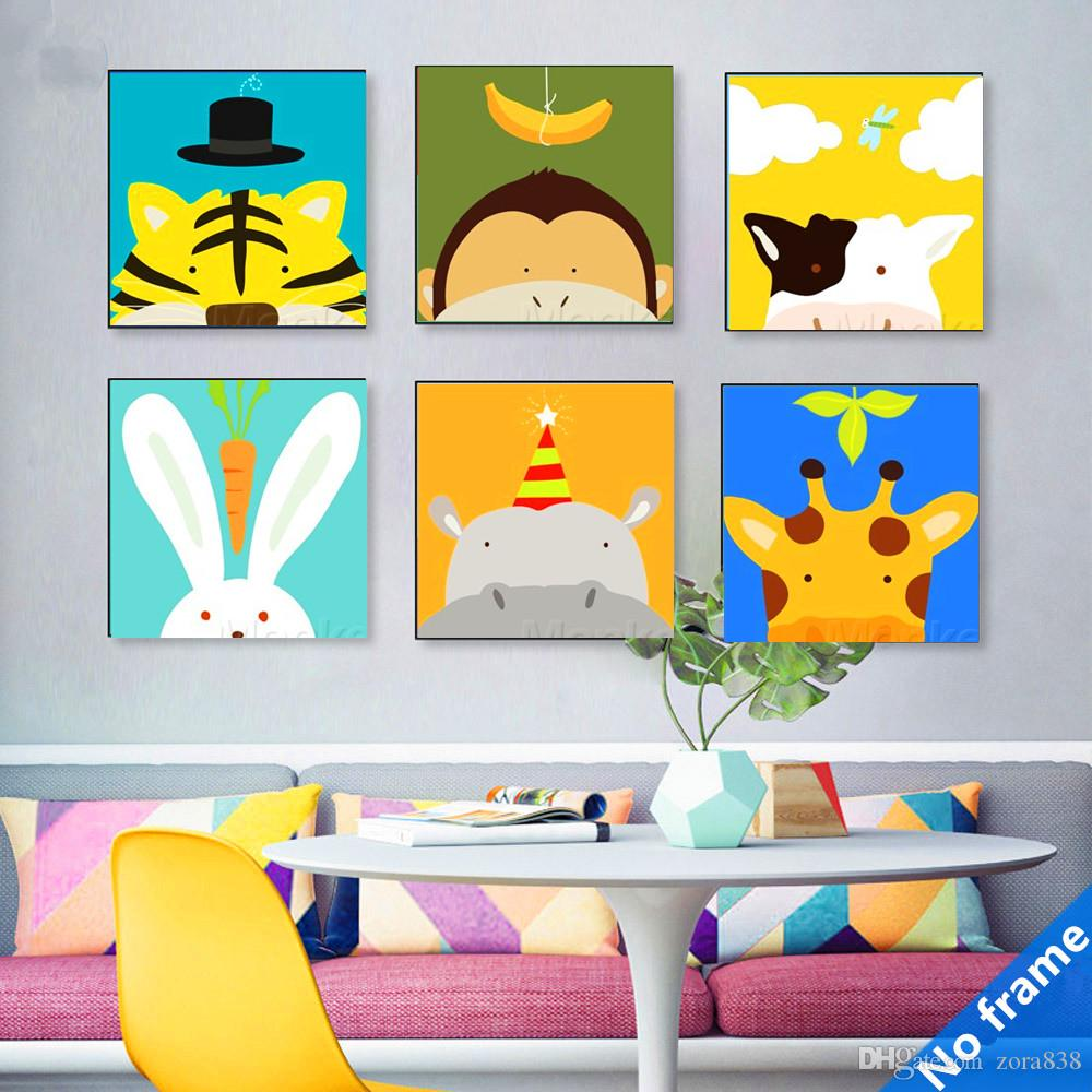 2018 Animal Cartoon Living Room Bedroom Decoration Painting Wall Painting  Restaurant Murals Background Wall Painting Childrenu0027S Room Decorative From  Zora838 ...