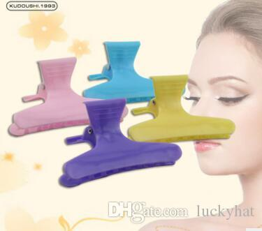 8CM factory sale Hairdressing partition butterfly clip Duckbill clip plastic hair styling hair tools solid color Hair Products hot