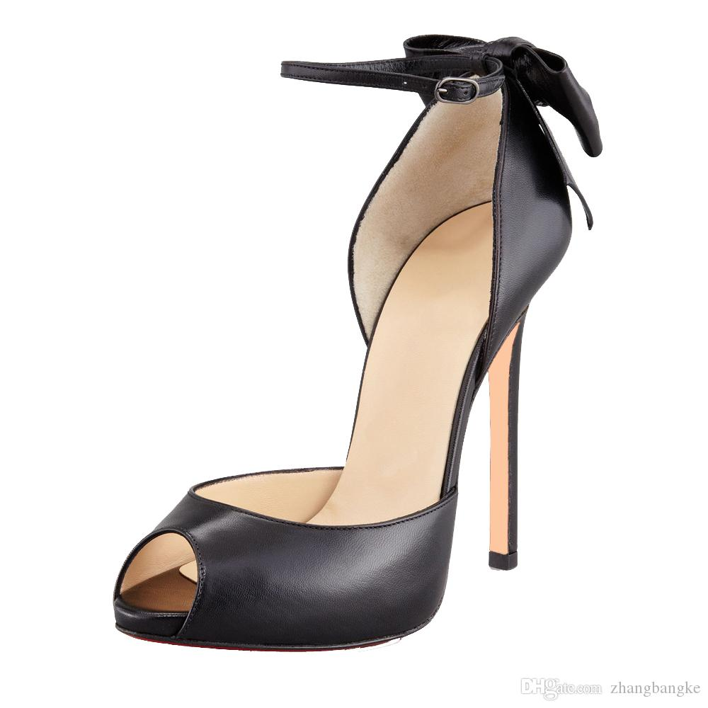 0e86105fa 2017 ZK chaussures femmes à la mode talons hauts robe / chaussures de  soirée super talon sandales cheville wrap taille EU34 ~ 45