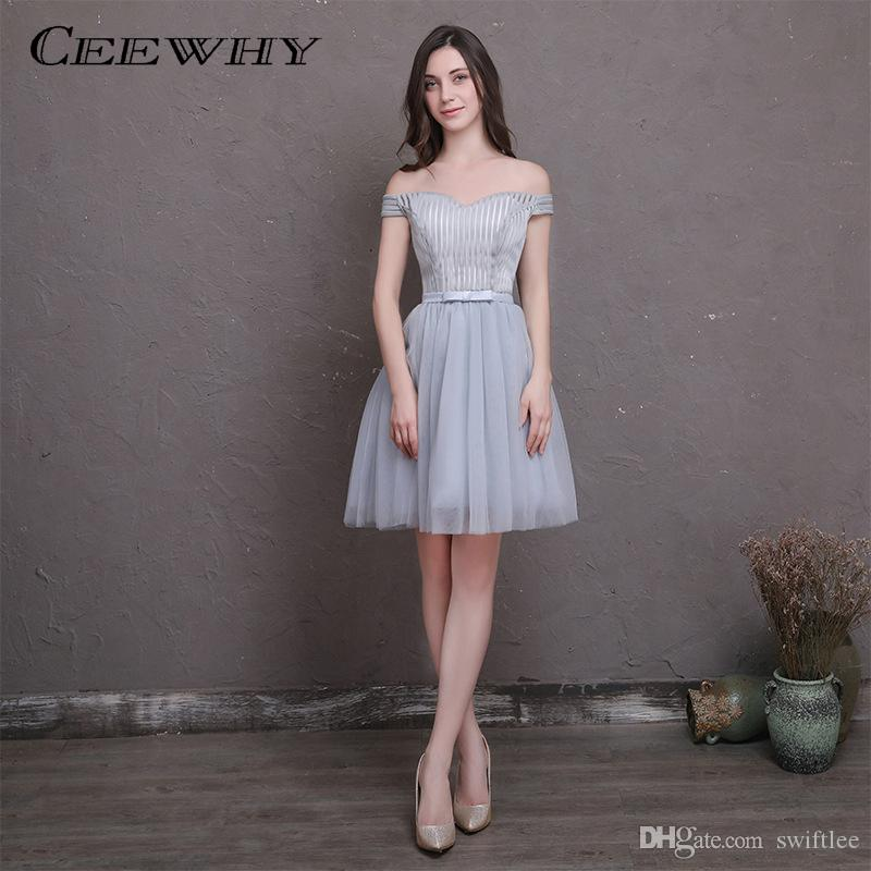 8abda81d1 CEEWHY Boat Neck Short Special Occasion Dress A Line Formal Gown ...