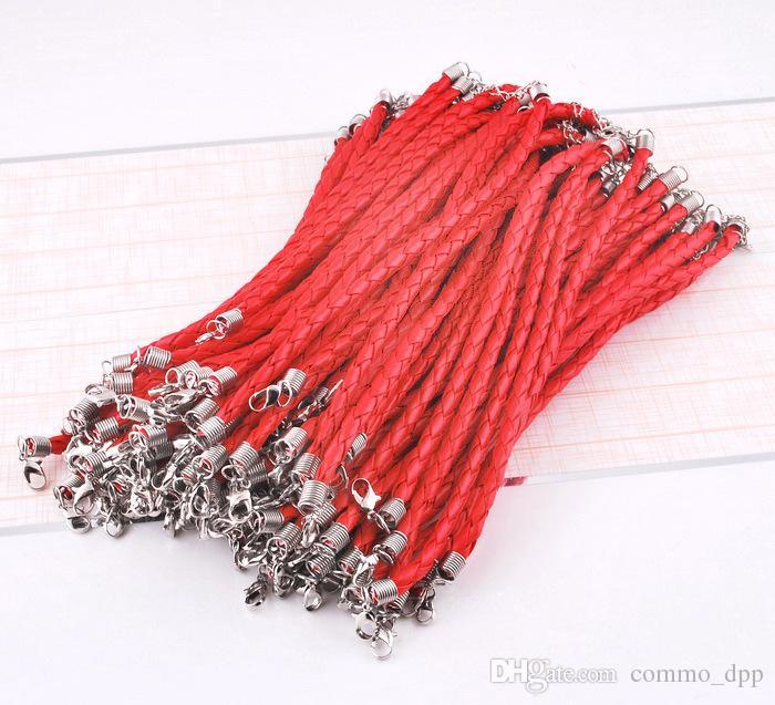 10 pz / lotto Hot PU braccialetto di fascino in pelle intrecciata corda catena wristband Fit perline FAI DA TE braccialetto le donne uomini gioielli di moda in massa
