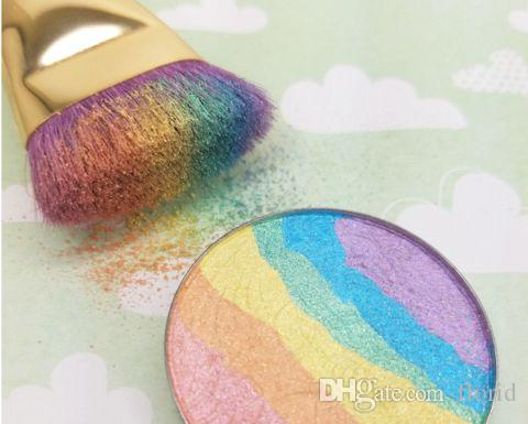 Prism Rainbow Highlighter Shimmer Eyeshadow Face Bitter Lace Beauty Blush Makeup Bronzer In Retail Box
