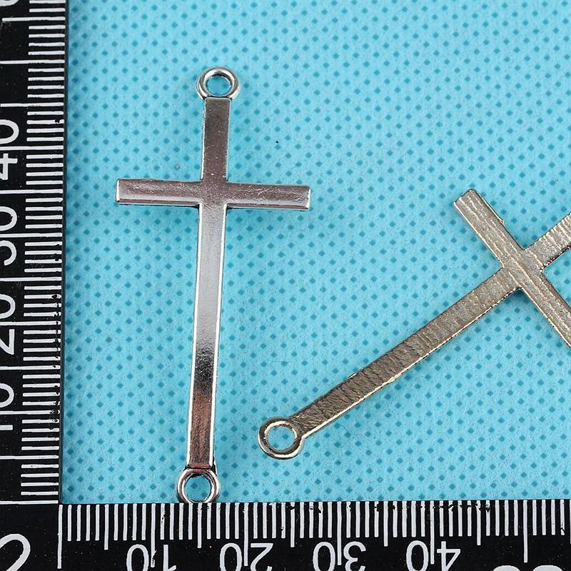 20Pcs Alloy Enamel Crucifix Cross Charms Pendants For Jewelry Making DIY 18*30mm